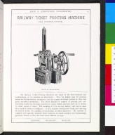 Railway Ticket Printing Machine