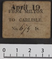 Printed ticket from Milton to Carlisle