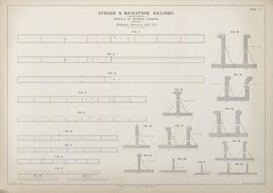 Details of several girders (Strood & Maidstone Railway)