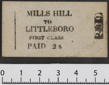 Printed ticket from Mills Hill to Littleborough